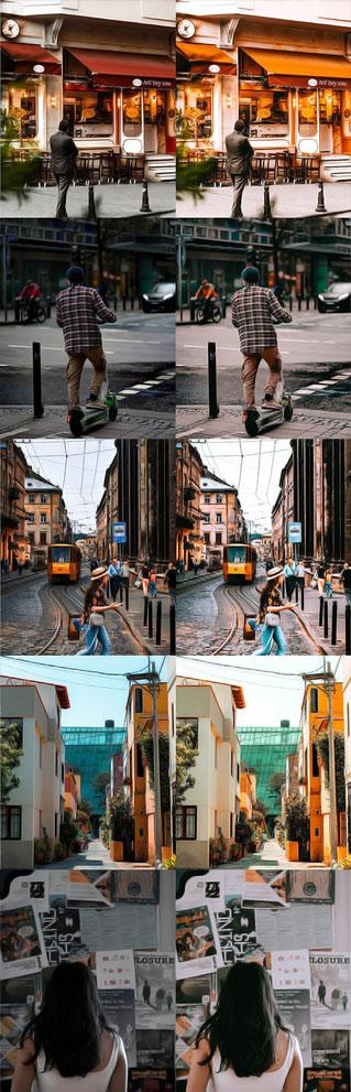 پریست رنگی شهر Bright Clean presets