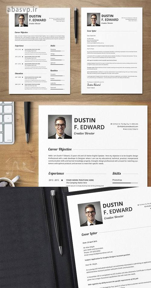 قالب لایه باز رزومه پرمیوم Premium Resume