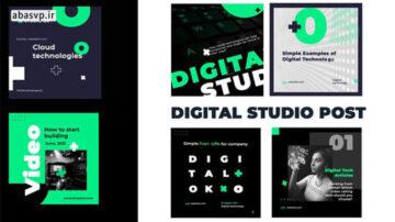 دانلود پروژه اینستاگرام افترافکت دیجیتالی digital studio post instagram