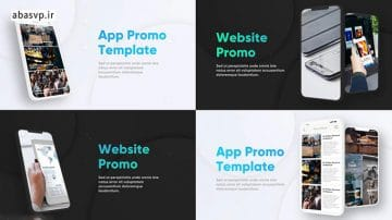 پروژه پریمیر معرفی برنامه Phone App Promo (Light + Dark)