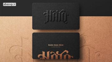 موکاپ کارت جدید ویزیت Black Business Card Mockup
