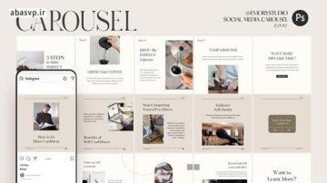 قالب اینستاگرام نکته و ترفند Tips & Trick – Carousel Templates Instagram