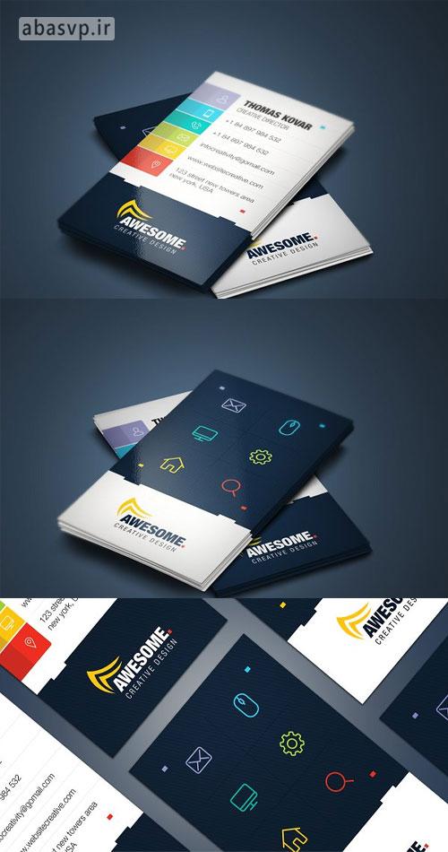 لایه باز کارت ویزیت خلاقانه Creative Business Card