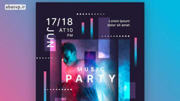پوستر لایه باز فستیوال موسیقی Music Event Poster
