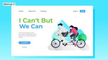 قالب لایه باز لندینگ پیج Teamwork Landing Page