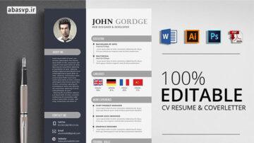 قالب رزومه لایه باز خلاقانه Creative CV Resume