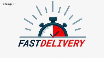 وکتور ارسال سریع کالا Fast Delivery Illustration