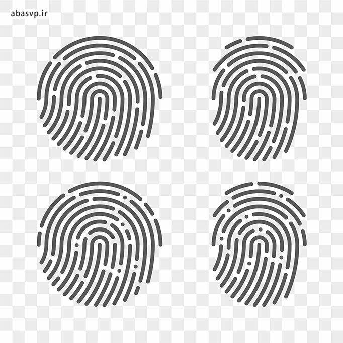 وکتور اثر انگشت Fingerprint Set