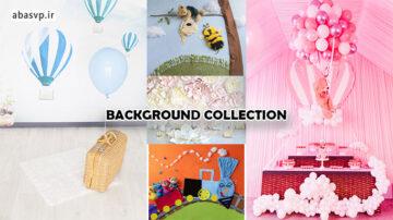 مجموعه بک گراند و بک دراپ عکاسی کودک و نوزاد