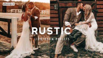 دانلود پریست رنگی عروسی Rustic Boho Lightroom Presets