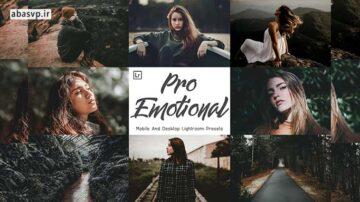 پریست رنگی پرو اموشنال pro emotional mobile and lightroom